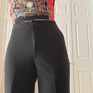 Petites' all black flowy wide legged pants